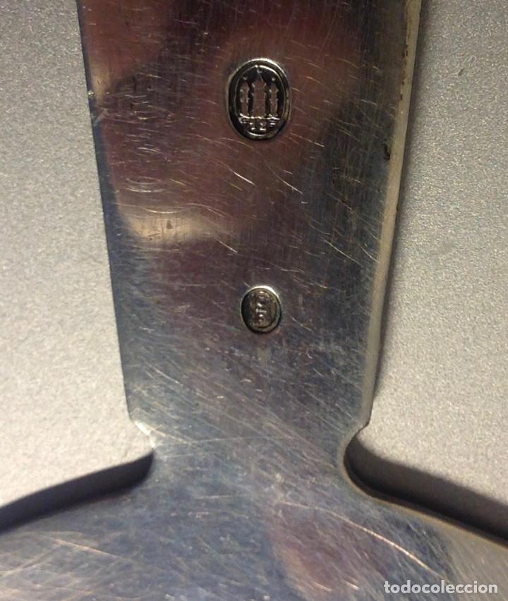 Antigüedades: Colador de plata de ley, precioso, 100 años. - Foto 4 - 154951794