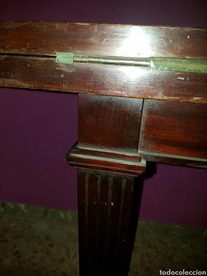 Antigüedades: Mesa auxiliar plegable art deco para juego de cartas o juegos de mesa - Foto 5 - 154953758