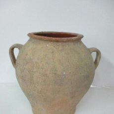 Antigüedades: ANTIGUA TINAJA DE CERÁMICA - GRAN JARRA - IDEAL PARA JARDÍN, DECORACIÓN - S. XIX. Lote 154981650