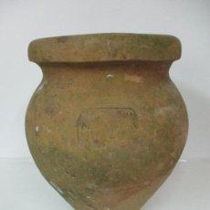 Antigüedades: ANTIGUA TINAJA DE CERÁMICA - GRAN JARRA - IDEAL PARA JARDÍN, DECORACIÓN - CON INSCRIPCIÓN - S. XIX. Lote 154988098