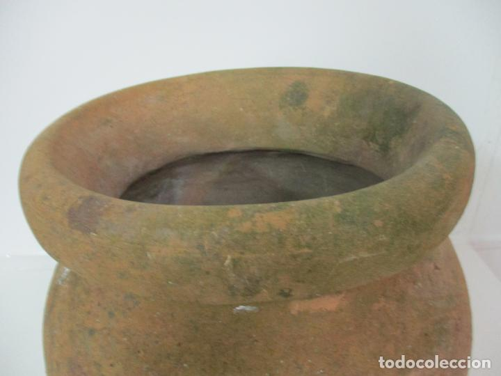 Antigüedades: Antigua Tinaja de Cerámica - Gran Jarra - Ideal para Jardín, Decoración - con Inscripción - S. XIX - Foto 3 - 154988098