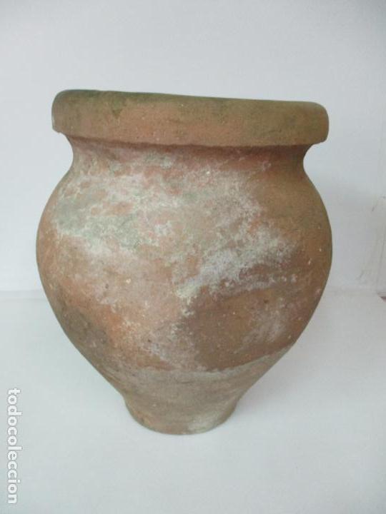 Antigüedades: Antigua Tinaja de Cerámica - Gran Jarra - Ideal para Jardín, Decoración - con Inscripción - S. XIX - Foto 4 - 154988098