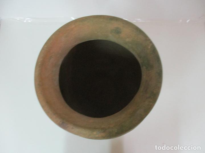 Antigüedades: Antigua Tinaja de Cerámica - Gran Jarra - Ideal para Jardín, Decoración - con Inscripción - S. XIX - Foto 8 - 154988098
