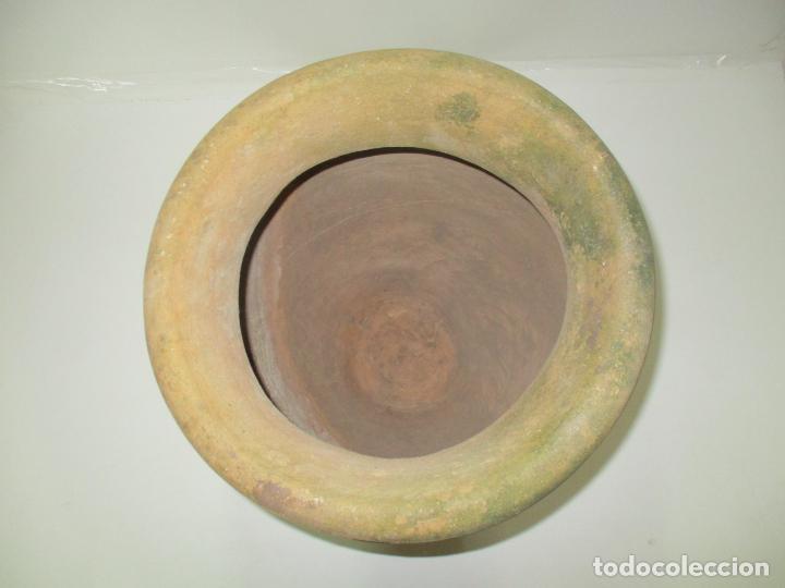 Antigüedades: Antigua Tinaja de Cerámica - Gran Jarra - Ideal para Jardín, Decoración - con Inscripción - S. XIX - Foto 9 - 154988098