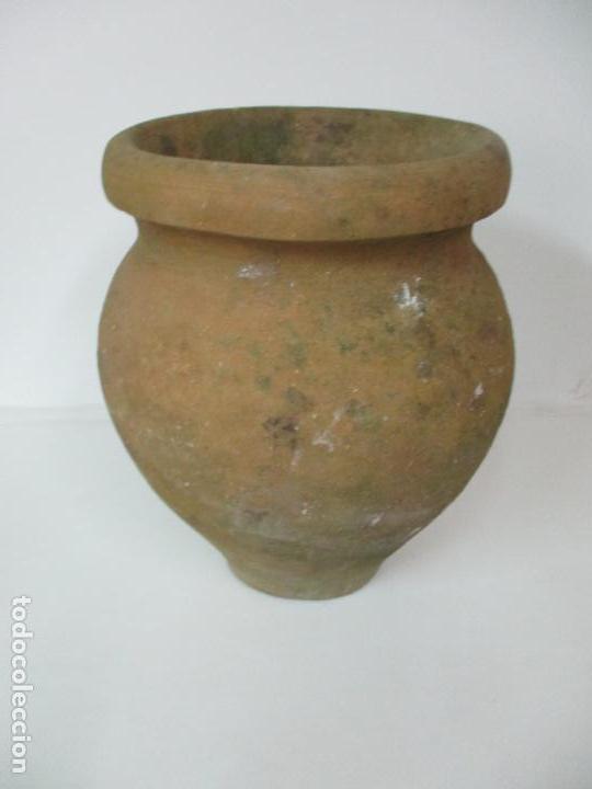 Antigüedades: Antigua Tinaja de Cerámica - Gran Jarra - Ideal para Jardín, Decoración - con Inscripción - S. XIX - Foto 13 - 154988098