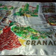 Antigüedades: ANTIGUO Y BONITO PAÑUELO RECUERDO DE GRANADA.. Lote 154991282