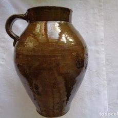 Antigüedades: ANTIGUO PUCHERO DE BARRO VIDRIADO. 23 X 18 CM. . Lote 155012614