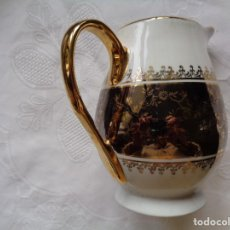 Antigüedades: JARRA DE LECHE EN PORCELANA DECORADA EN ORO. 11,5 CM. SIN MARCAS.. Lote 155017578