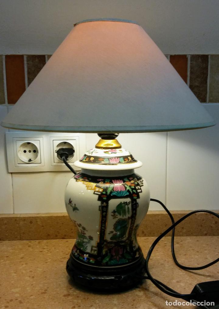 JARRON LAMPARA JAPONESA VINTAGE (Antigüedades - Porcelana y Cerámica - Japón)