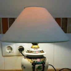 Antigüedades: JARRON LAMPARA JAPONESA VINTAGE. Lote 155033490