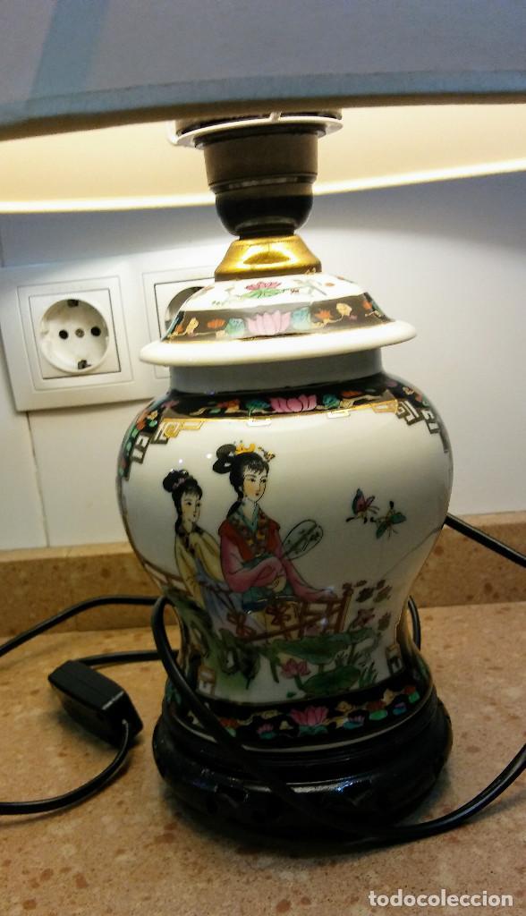 Antigüedades: JARRON LAMPARA JAPONESA VINTAGE - Foto 2 - 155033490