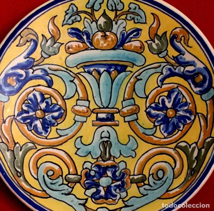 Antigüedades: PLATO CERÁMICA DE TRIANA S. XIX - Foto 2 - 155035134