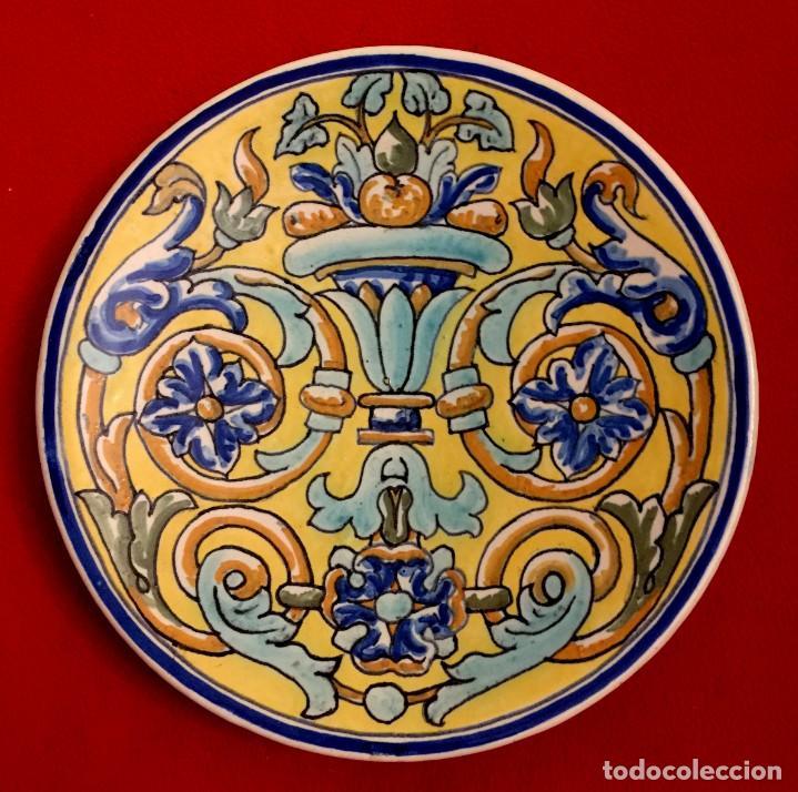 Antigüedades: PLATO CERÁMICA DE TRIANA S. XIX - Foto 3 - 155035134