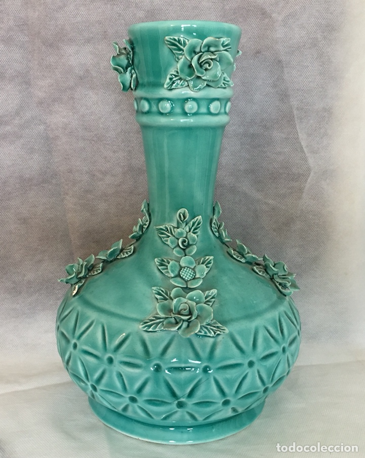 JARRÓN ANTIGUO MANISES (Antigüedades - Porcelanas y Cerámicas - Manises)