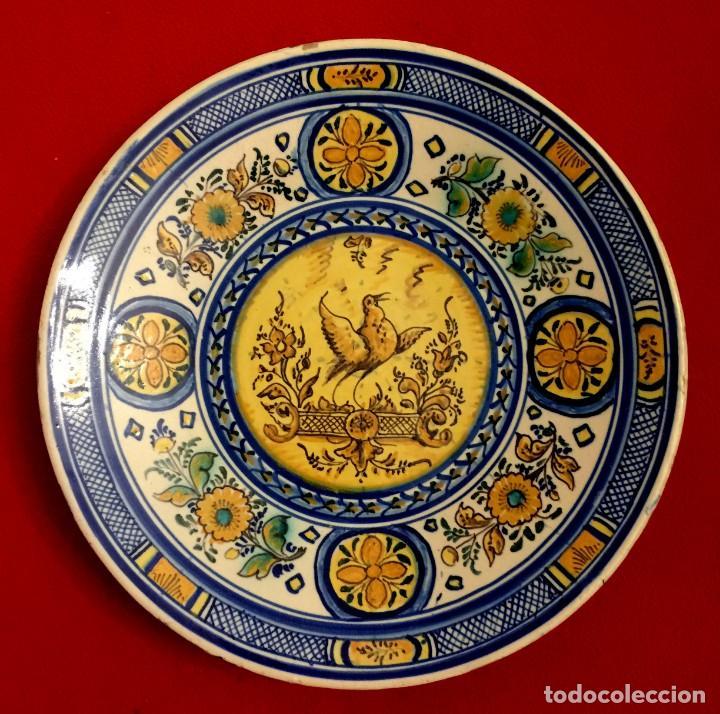 Antigüedades: PLATO CERÁMICA DE TRIANA S. XIX - Foto 4 - 155037550