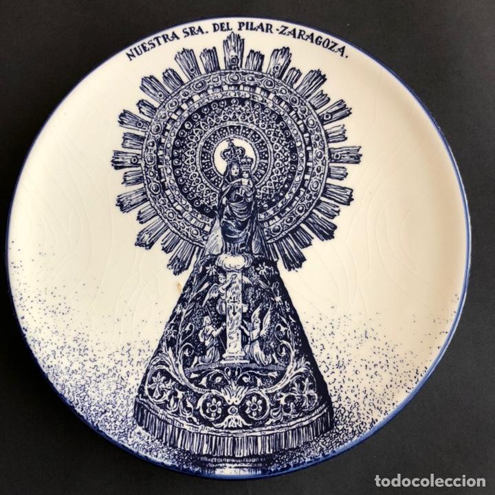 PLATO VIRGEN DEL PILAR ESCULTOR JUAN LLADRÓ (Antigüedades - Porcelanas y Cerámicas - Lladró)