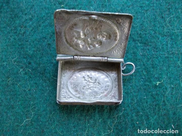 Antigüedades: Relicario de alpaca - Foto 2 - 155048594