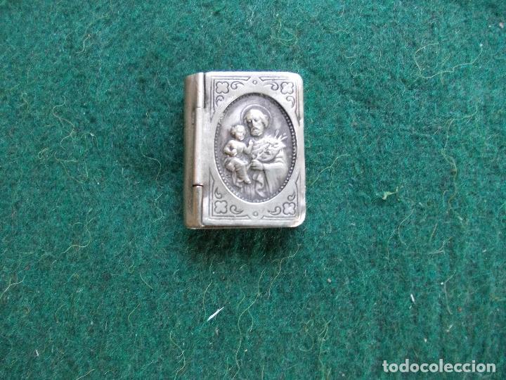 Antigüedades: Relicario de alpaca - Foto 3 - 155048594