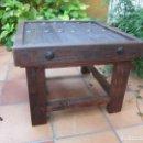 Antigüedades: MESA RÚSTICA AUXILIAR. Lote 155050006