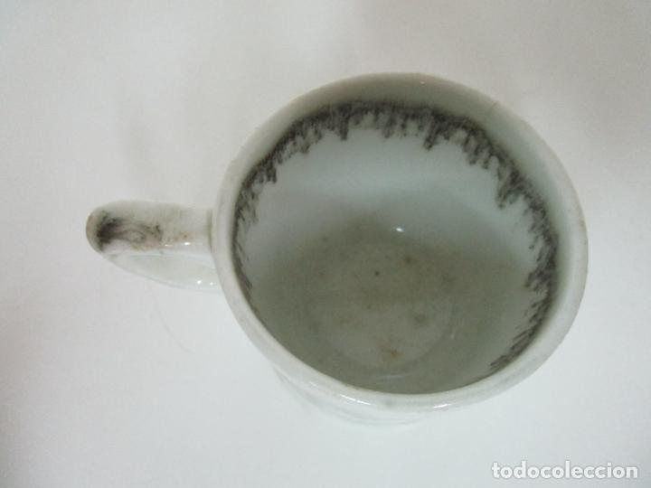 Antigüedades: Antigua Taza, Pocillo - Sargadelos - Decorado en Negro - S. XIX - Foto 7 - 155051518