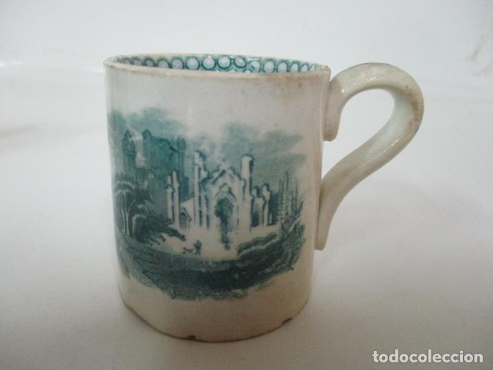 Antigüedades: Antigua Taza, Pocillo - Sargadelos - Decorado en Verde - S. XIX - Foto 3 - 155051814