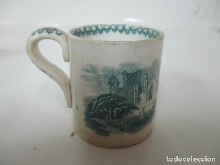 Antigüedades: Antigua Taza, Pocillo - Sargadelos - Decorado en Verde - S. XIX - Foto 7 - 155051814