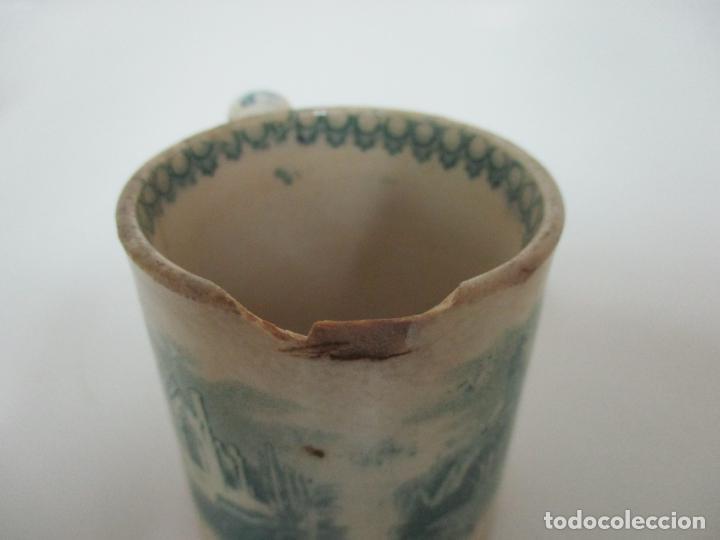 Antigüedades: Antigua Taza, Pocillo - Sargadelos - Decorado en Verde - S. XIX - Foto 10 - 155051814