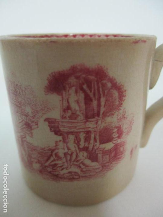 Antigüedades: Antigua Taza, Pocillo - Sargadelos - Decorado en Rojo - S. XIX - Foto 2 - 155052206
