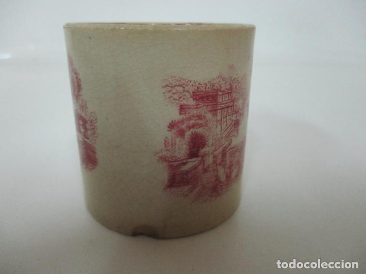 Antigüedades: Antigua Taza, Pocillo - Sargadelos - Decorado en Rojo - S. XIX - Foto 4 - 155052206