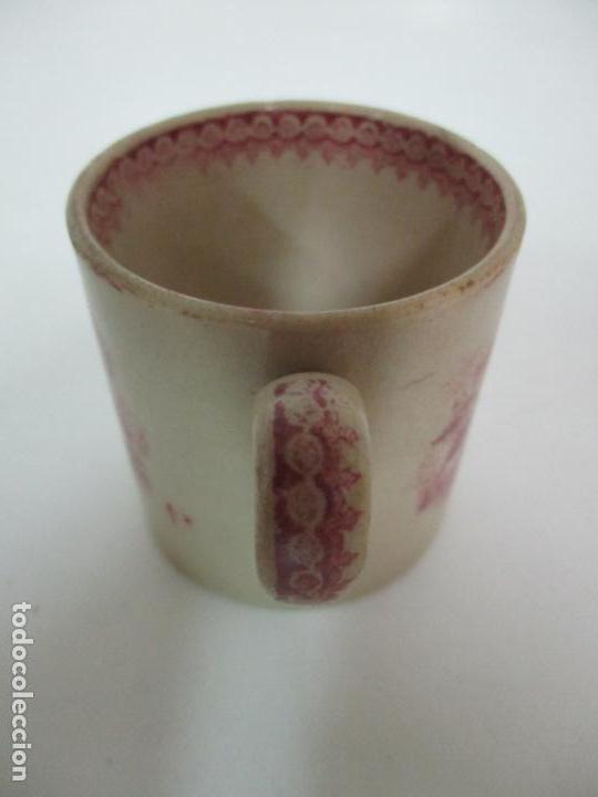 Antigüedades: Antigua Taza, Pocillo - Sargadelos - Decorado en Rojo - S. XIX - Foto 6 - 155052206