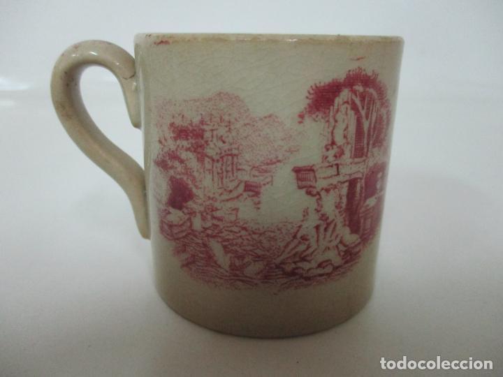 Antigüedades: Antigua Taza, Pocillo - Sargadelos - Decorado en Rojo - S. XIX - Foto 7 - 155052206