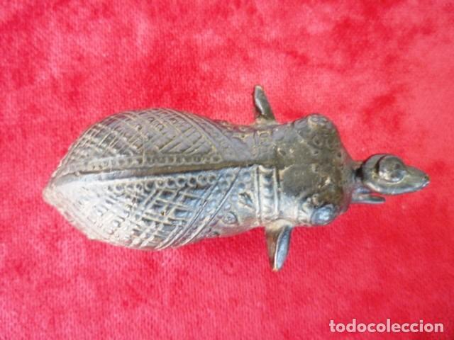 Antigüedades: ELEFANTE DE LA SUERTE EN BRONCE CON PÁTINA, PIEZA ANTIGUA DE COLECCIÓN - Foto 4 - 155063118