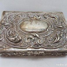 Antigüedades: ESPECTACULAR COFRE HECHO ENTERAMENTE DE PLATA DE LEY ESPAÑOLA DE ESTILO ROCOCÓ DE BELLOS RELIEVES.. Lote 155080546