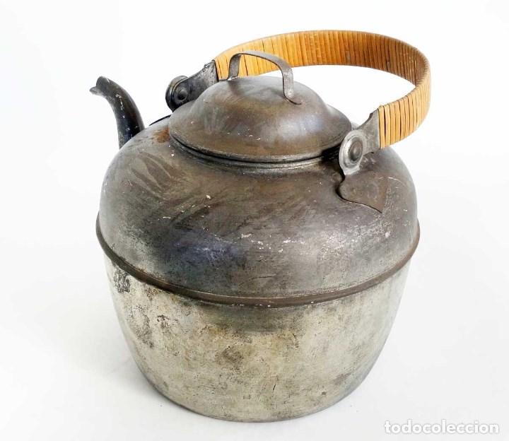 Antigüedades: GRAN TETERA METAL FRANCESA. 34CM - Foto 3 - 155082590
