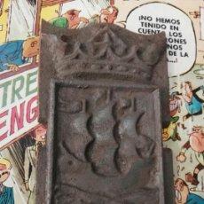 Antigüedades: ESCUDO SAN SEBASTIÁN EN HIERRO. Lote 155098418