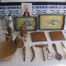 Antigüedades: LOTE DE 16 PIEZAS DE MADERA DETODO UN POCO. Lote 155099634