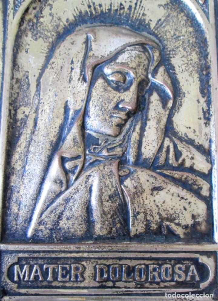 Antigüedades: VIRGEN ALAPACA SOBRE MADERA -- MATER DOLOROSA - Foto 2 - 155101402