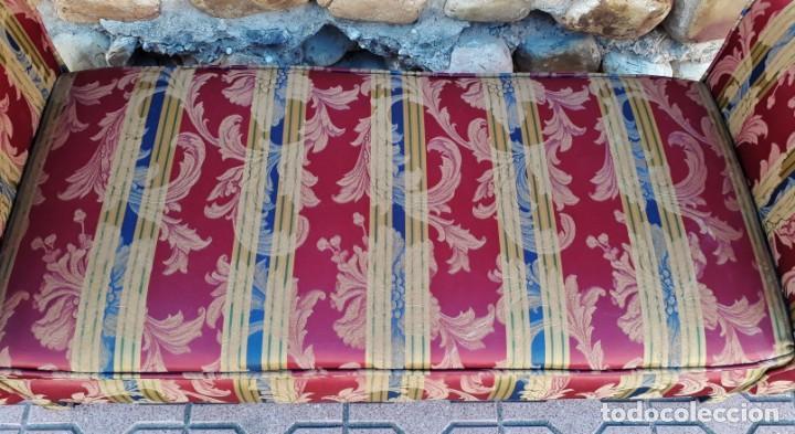 Antigüedades: Banqueta descalzadora antigua vintage estilo chester. Chaise longue sofá antiguo estilo chesterfield - Foto 8 - 155101574