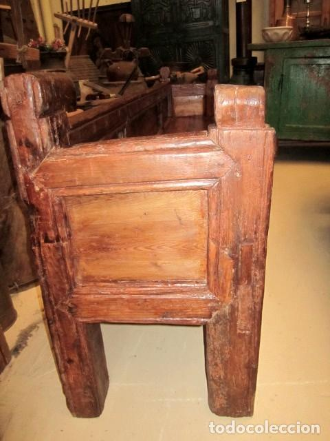 Antigüedades: Banco de iglesia siglo XVIII - Foto 2 - 155123558