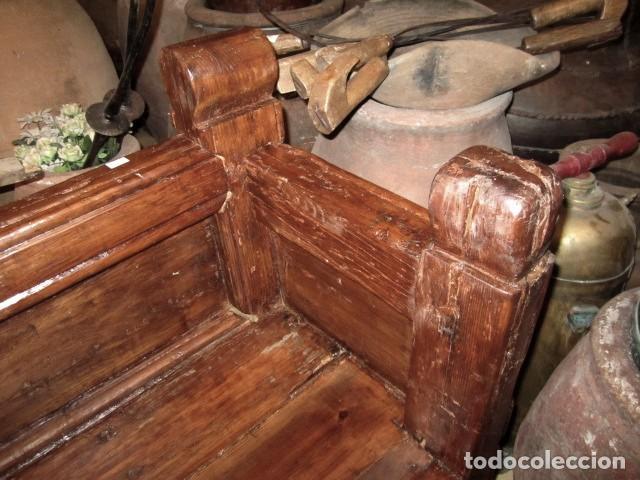Antigüedades: Banco de iglesia siglo XVIII - Foto 7 - 155123558