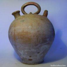 Antigüedades: GRAN Y ROTUNDO BOTIJO DE TERRISSA CATALANA ( SANT JULIA DE VILATORTA ? ) . Lote 155127862