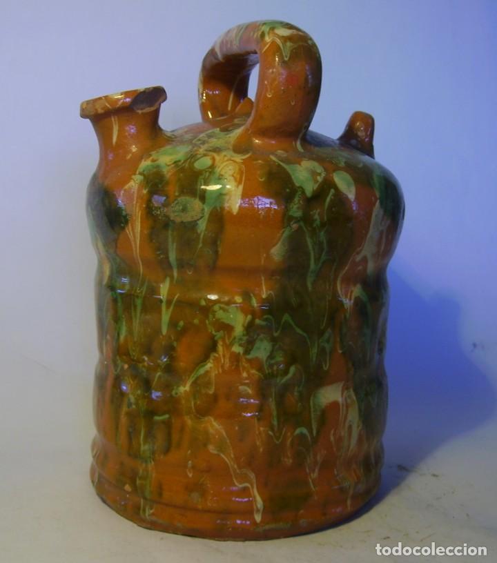 BOTIJO DE TERRISSA CATALANA DE OLOT XIX-XX (Antigüedades - Porcelanas y Cerámicas - Catalana)