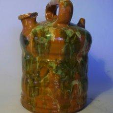 Antigüedades: BOTIJO DE TERRISSA CATALANA DE OLOT XIX-XX . Lote 155128810