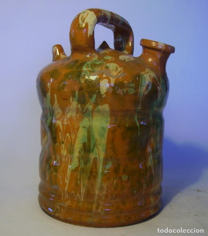 Antigüedades: BOTIJO DE TERRISSA CATALANA DE OLOT XIX-XX - Foto 2 - 155128810