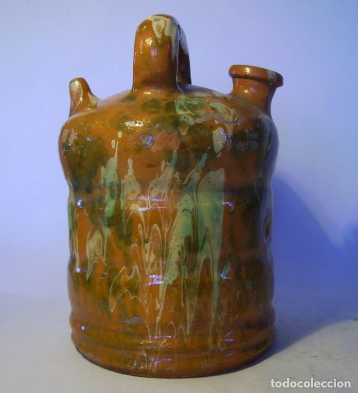 Antigüedades: BOTIJO DE TERRISSA CATALANA DE OLOT XIX-XX - Foto 6 - 155128810