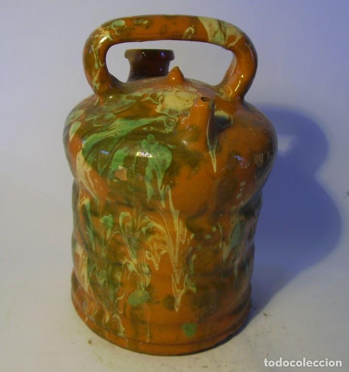 Antigüedades: BOTIJO DE TERRISSA CATALANA DE OLOT XIX-XX - Foto 15 - 155128810