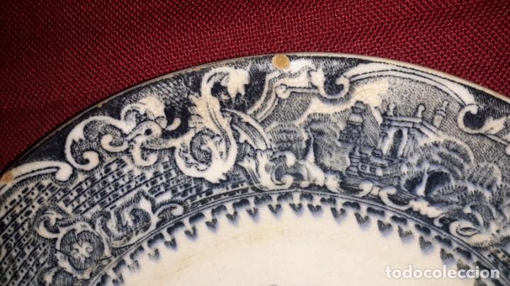 Antigüedades: PLATO DE PORCELANA DECORADO - Foto 5 - 155133274