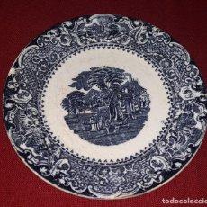 Antigüedades: PLATO DE PORCELANA DECORADO. Lote 155133454