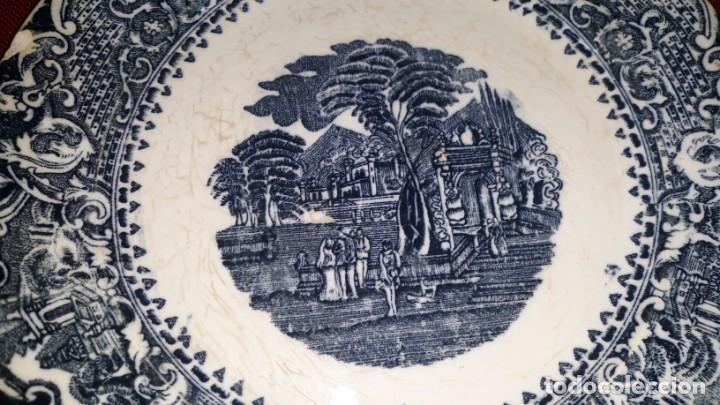 Antigüedades: PLATO DE PORCELANA DECORADO - Foto 3 - 155133454