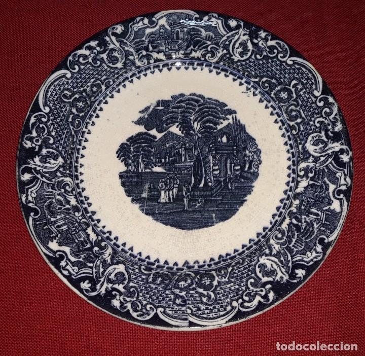 PLATO DE PORCELANA DECORADO (Antigüedades - Porcelanas y Cerámicas - Otras)